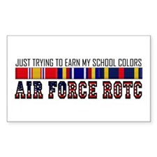 Earn My School Colors Rectangle Decal