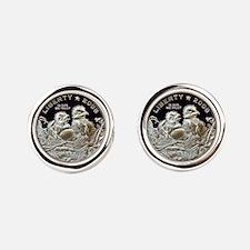 2008 Bald Eagle Half Dollar Cufflinks