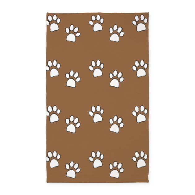 Paw Prints 3'X5' Area 3'X5' Area Rug By Mytreasurechest
