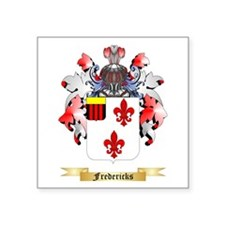 "Fredericks Square Sticker 3"" x 3"""