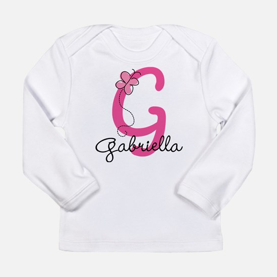 Personalized Monogram L Long Sleeve Infant T-Shirt