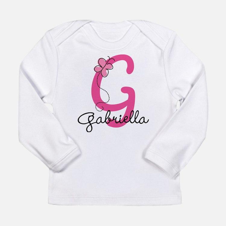 Personalized Monogram L Long Sleeve Infant T-Shirt