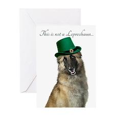 Funny Leprechaun Belgian Tervuren Greeting Cards