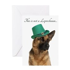 Funny Leprechaun Shepherd Greeting Cards