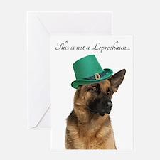 Funny Leprechaun Shepherd Greeting Cards