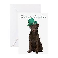 Funny Leprechaun Lab Greeting Cards
