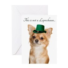 Funny Leprechaun Chihuahua Greeting Cards