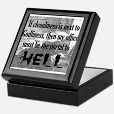 office portal hell :) Keepsake Box