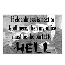 office portal hell :) Postcards (Package of 8)