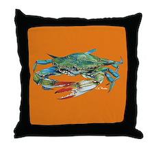 Jimmy Crab Pillow Orange Throw Pillow