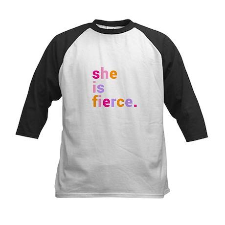 She if Fierce Colors Kids Baseball Jersey