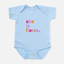 She if Fierce Colors Infant Bodysuit
