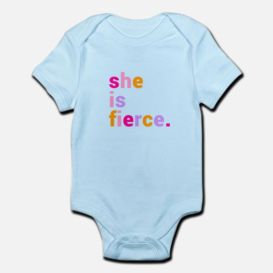 She if Fierce Colors Infant Bodysuit