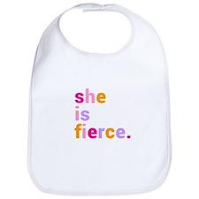 She if Fierce Colors Bib