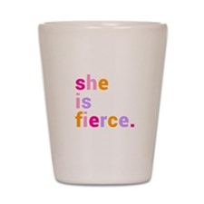 She if Fierce Colors Shot Glass