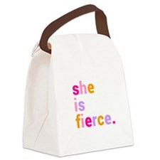 She if Fierce Colors Canvas Lunch Bag
