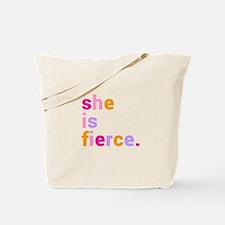 She if Fierce Colors Tote Bag