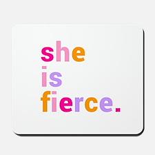 She if Fierce Colors Mousepad