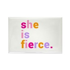 She if Fierce Colors Rectangle Magnet (10 pack)