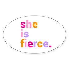 She if Fierce Colors Decal