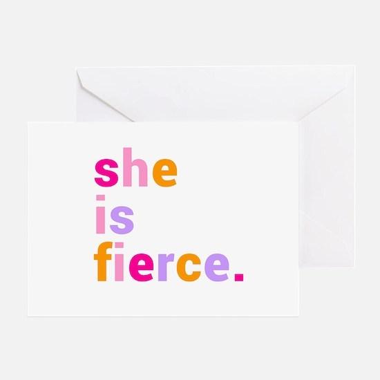 She if Fierce Colors Greeting Card