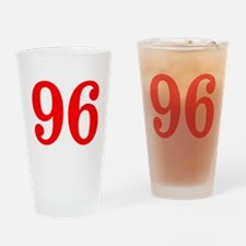 RED #96 Drinking Glass