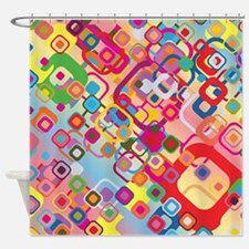 Neon Knockout Shower Curtain