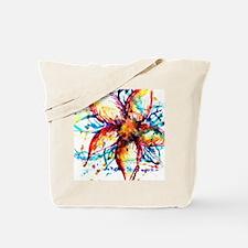 Vibrant Flower Tote Bag