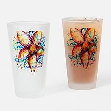 Vibrant Flower Drinking Glass