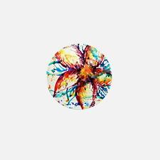 Vibrant Flower Mini Button