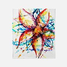 Vibrant Flower Throw Blanket