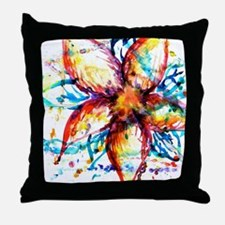 Vibrant Flower Throw Pillow