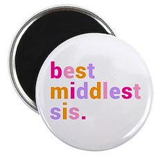 "best middlest sis. 2.25"" Magnet (10 pack)"