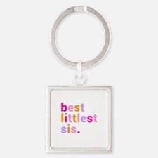 best littlest sis. Square Keychain