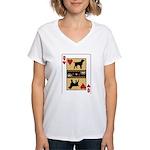 Queen Griffon Women's V-Neck T-Shirt