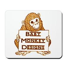 Baby Monkey Designs Logo Mousepad