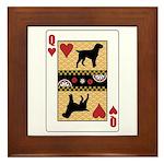 Queen Griffon Framed Tile