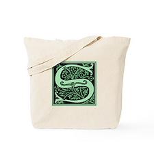 Green Fleur2 Monogram S Tote Bag