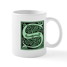 Green Fleur2 Monogram S Mug