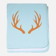 Brown 12 Point Deer Antlers baby blanket
