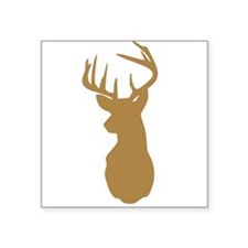 Brown Buck Hunting Trophy Silhouette Sticker