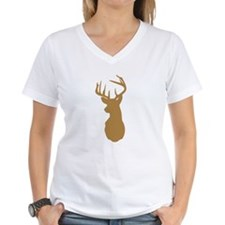Brown Buck Hunting Trophy Silhouette T-Shirt