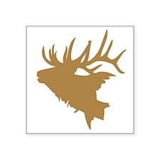 Brown Elk Head Sticker