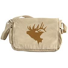 Brown Elk Head Messenger Bag