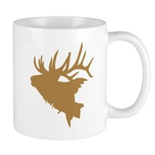 Brown Elk Head Mugs
