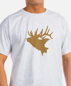Brown Elk Head T-Shirt
