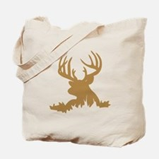 Brown 12 Point Buck Tote Bag
