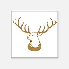 Brown Buck Hunting Trophy Sticker