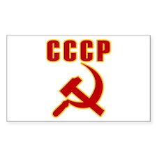 CCCP Soviet Union Rectangle Decal