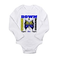 Down Syndrome Butterfl Long Sleeve Infant Bodysuit